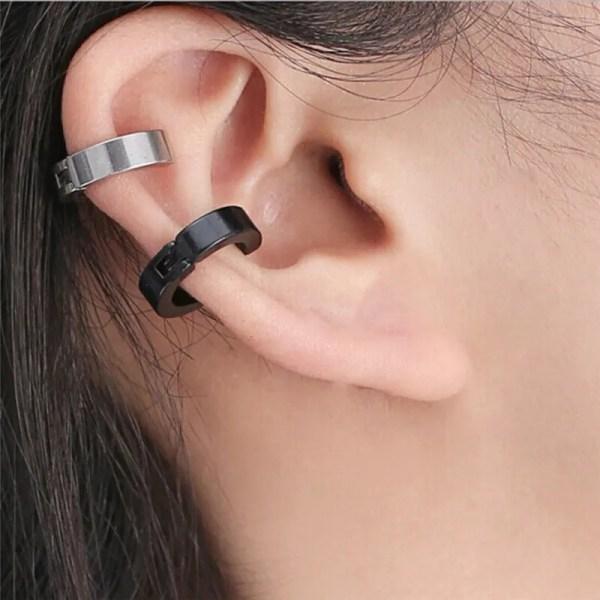Stainless Steel Ear Cuff Punk Clip Men Earrings