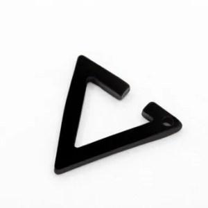 Black Triangle Clip Ear Cuff Earrings Men