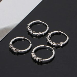 Minimalist Punk Metal Hoop Circle Earring