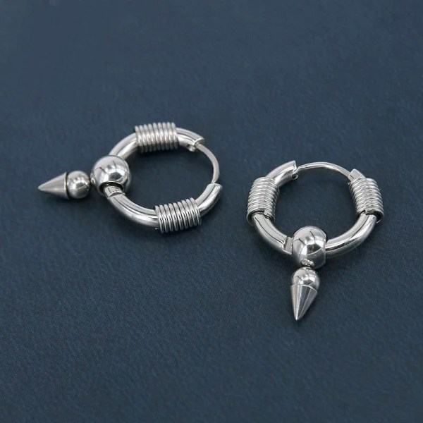 KPOP Round GD Stainless Steel Earrings