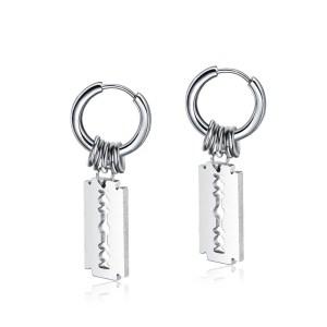 Razor Hoop Earrings for Men 1