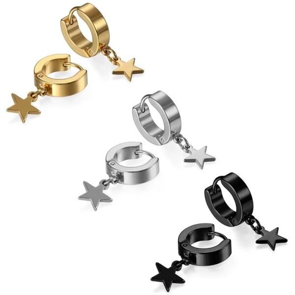 Star Hoop Earrings for Men 4