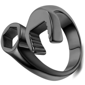 Wrench Spanner Ring for Men Stainless Steel 8-13 Size 2