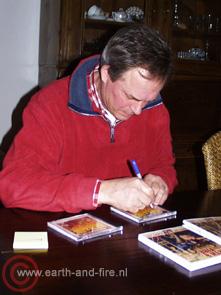 Cees Kalis signeert CD's, 2005