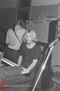 Eerste repetitie van Earth and Fire met Jerney Kaagman, 1969