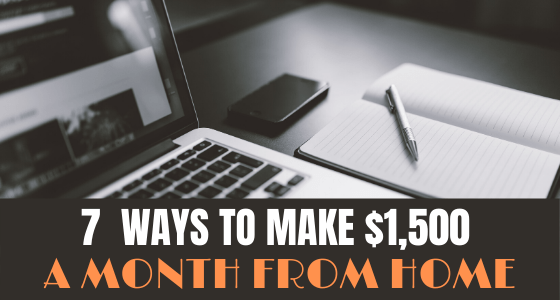 MAKE $1500 EXTRA A MONTH FROM HOME