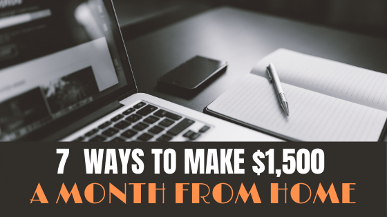 MAKE $1500 A MONTH EXTRA FROM HOME