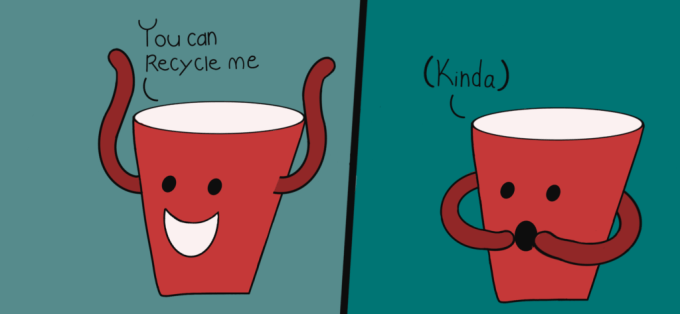 graphic of cartoon plastic cup