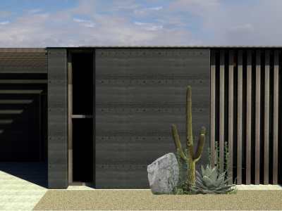 The Basalt is a 2-bedroom house design by EarthHouse, which designs and builds rammed earth homes in Melbourne and the Mornington Peninsula