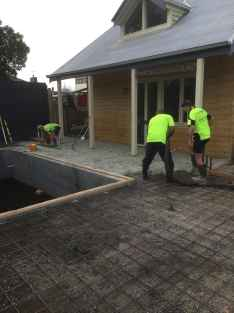 Earth House is building this stunning rammed earth home for a client in Bentleigh East, a Melbourne suburb in the south east.