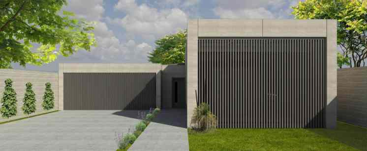 The Linear is a 4-bedroom house design by EarthHouse, which designs and builds rammed earth homes in Melbourne and the Mornington Peninsula