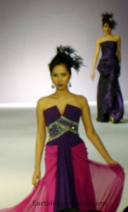 Purple and Pink Gown