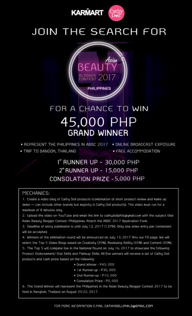 Asia's Beauty Blogger Contest  BBC Final Poster