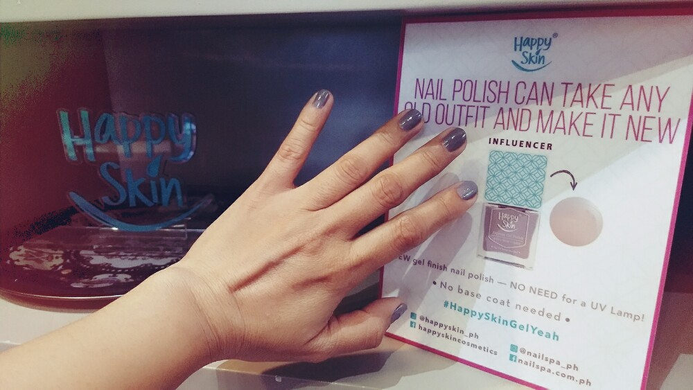 Happy Skin Nailed It with this No UV Light Gel Finish Nail Polish #HappySkinGelYeah