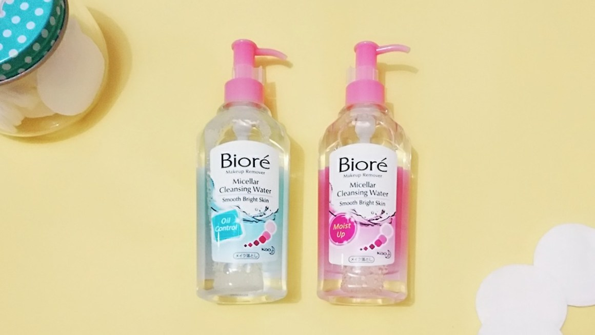 #WhatsNew Bioré Micellar Cleansing Water Moist Up and Oil Control