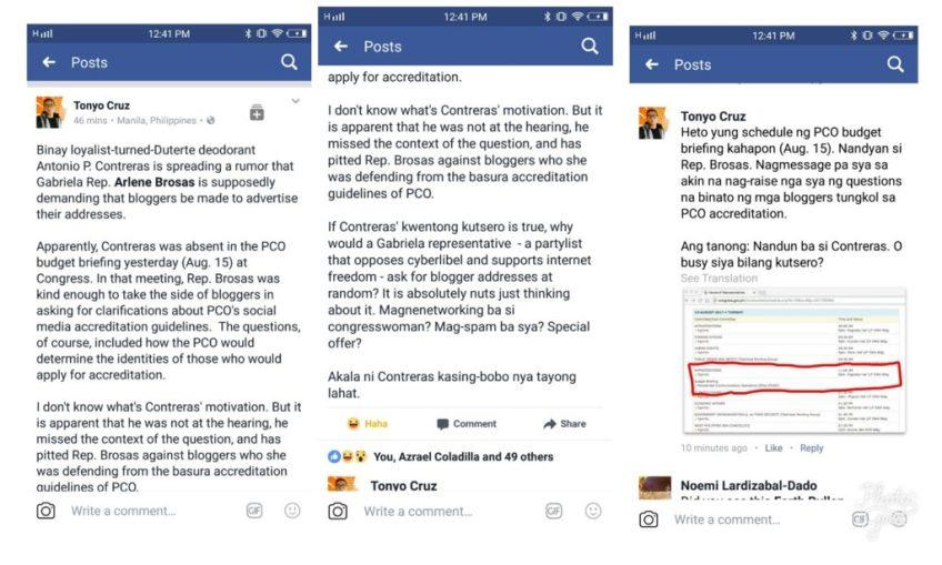 Bloggers vs trad media