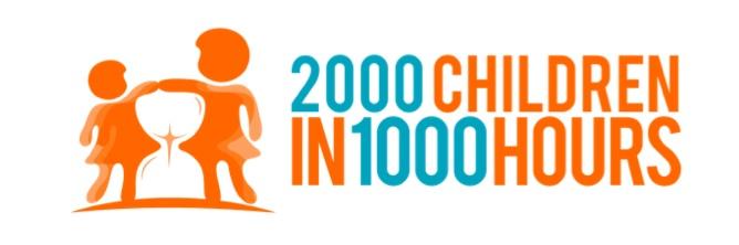 2000 children in 1000 hours