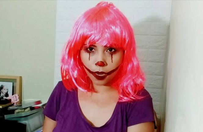 Pennywise Clown Makeup Look