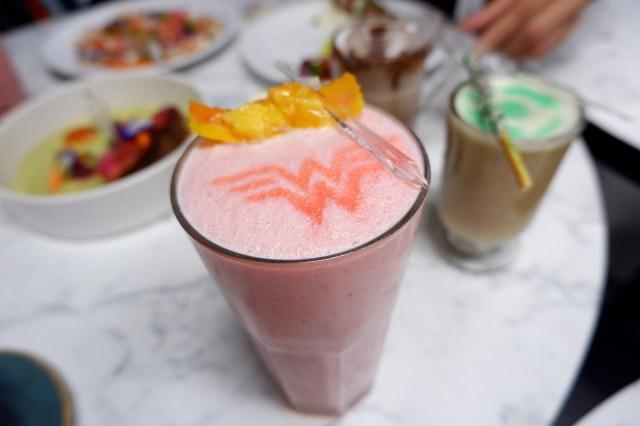 DC Super Heroes Cafe wonder woman drink