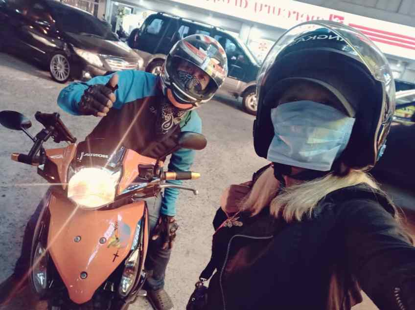 Grab ride Angkas ride