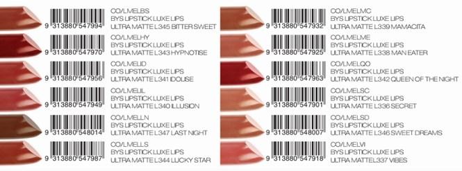 BYS Luxe Lips Ultra Matte