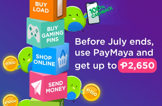 Paymaya July 2019 promo