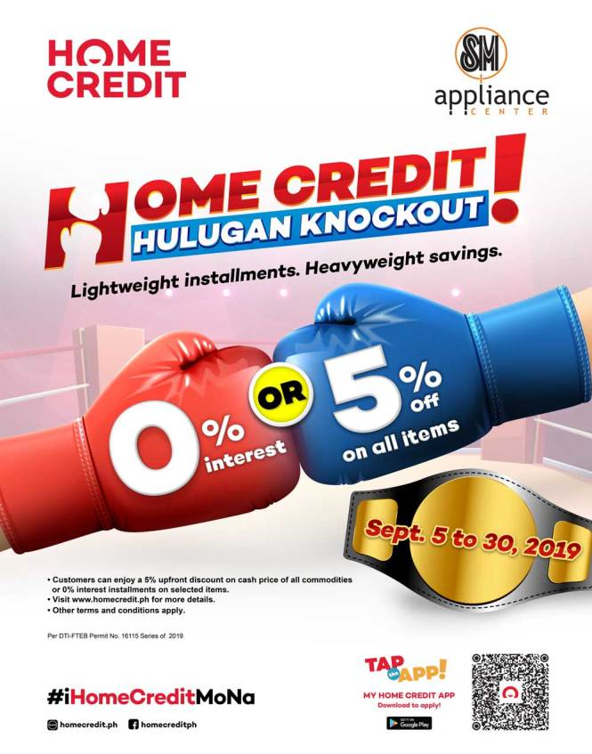 Home Credit Knockout Hulugan Promo