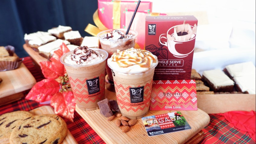 Bo's Coffee reloadable cards and coffee