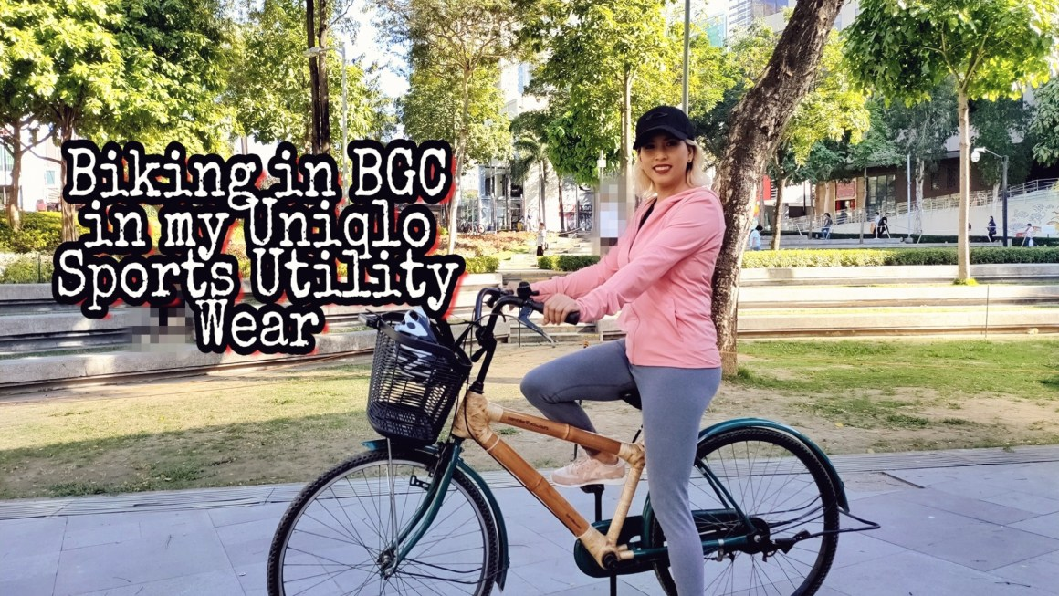 Biking Around BGC Trying Out Uniqlo's Sport Utility Wear