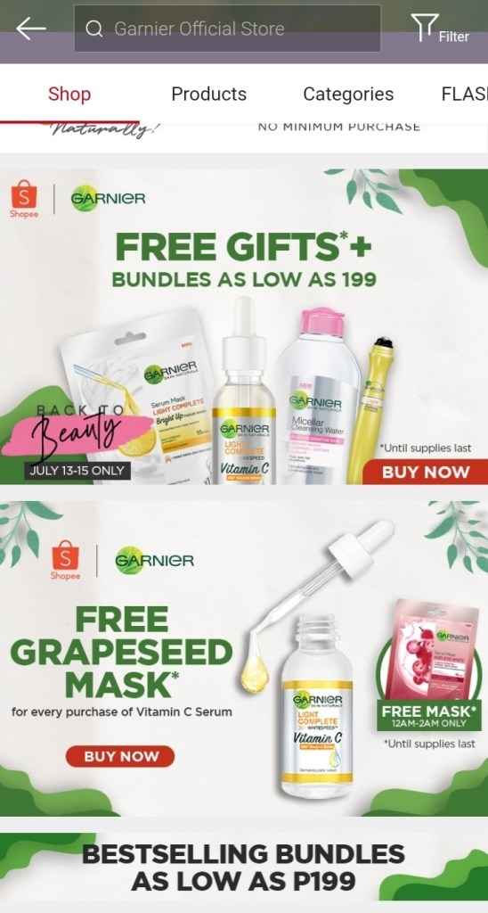 Garnier Official store on Shopee