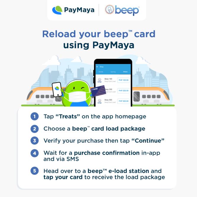 Load Beep Cards via PayMaya