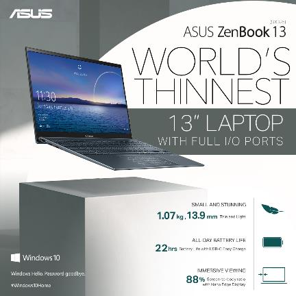 ASUS Philippines Redefines Ultra-thin Laptops with the All-New ZenBook 13 (UX325) and ZenBook 14 (UX425)