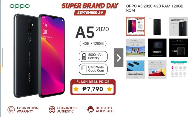 OPPO Brand Day Exclusive Deal at Shopee