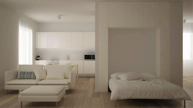 rented apartment modular pieces