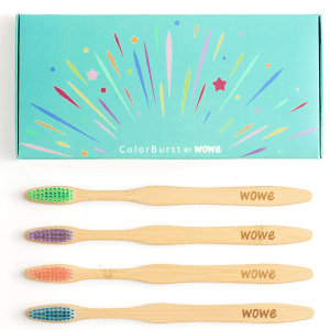 Colorburst Bamboo Toothbrushes 4 Pack