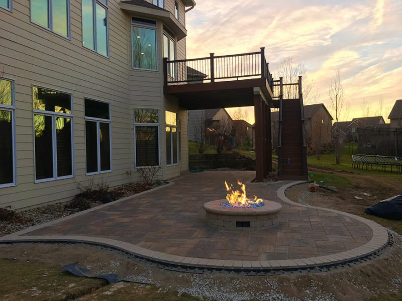 the perfect patio fire pit in urbandale