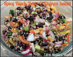 Spicy Black Bean & Quinoa Salad