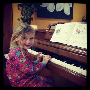 Ava Rose plays piano