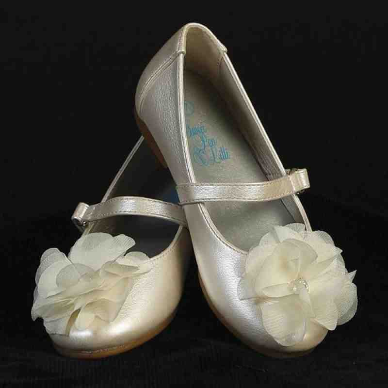 Ivory Shoes For Flower Girl Wedding And Bridal Inspiration