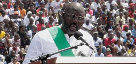 African Football Legends Grace George Weah's Swearing in As 25th President Of Liberia