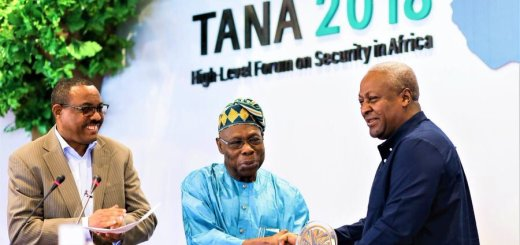 Obasanjo Hands Over to Mahama as Chairman of TANA High-Level Forum on Security