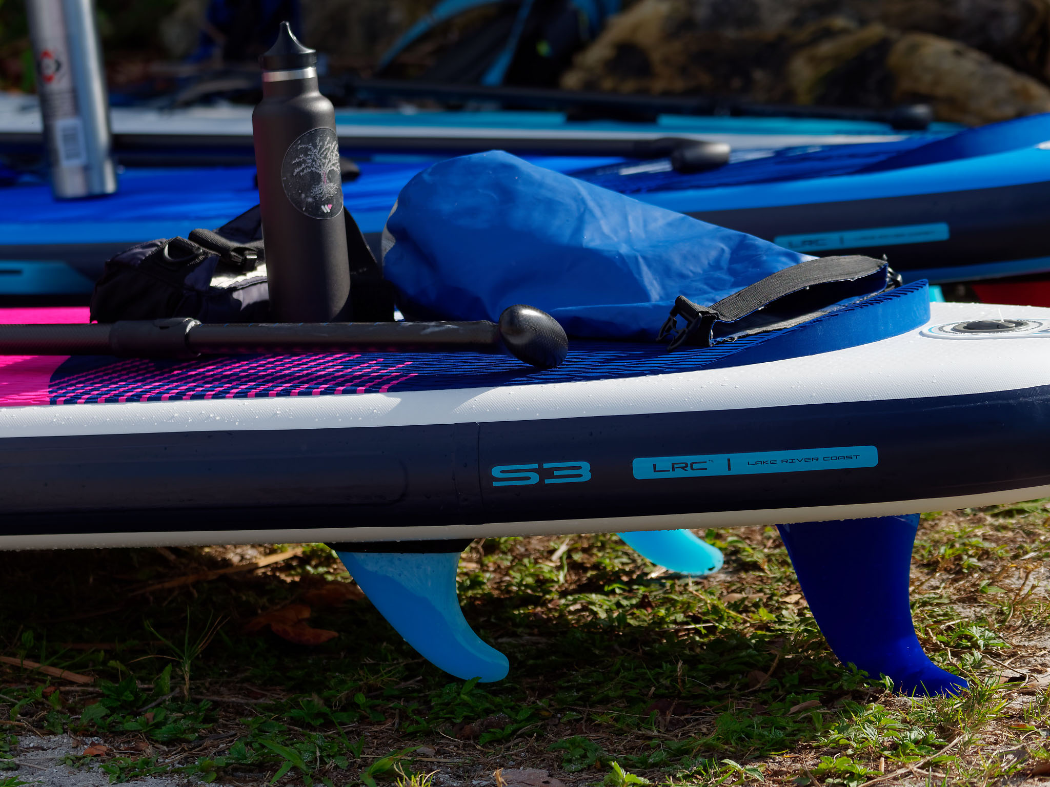 Inflatable Paddle Board fin System