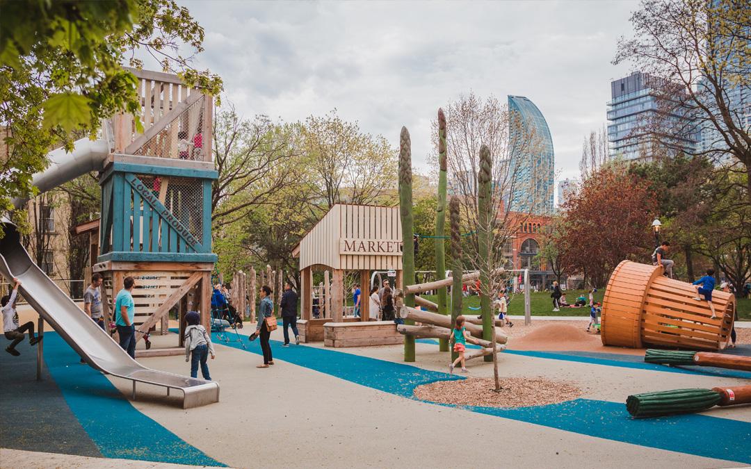 St James Park Food Market Themed Playground Toronto