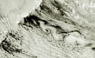 Vortex over the Bering Strait