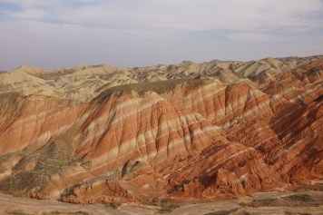 Zhangye colorful rock formations from the ground