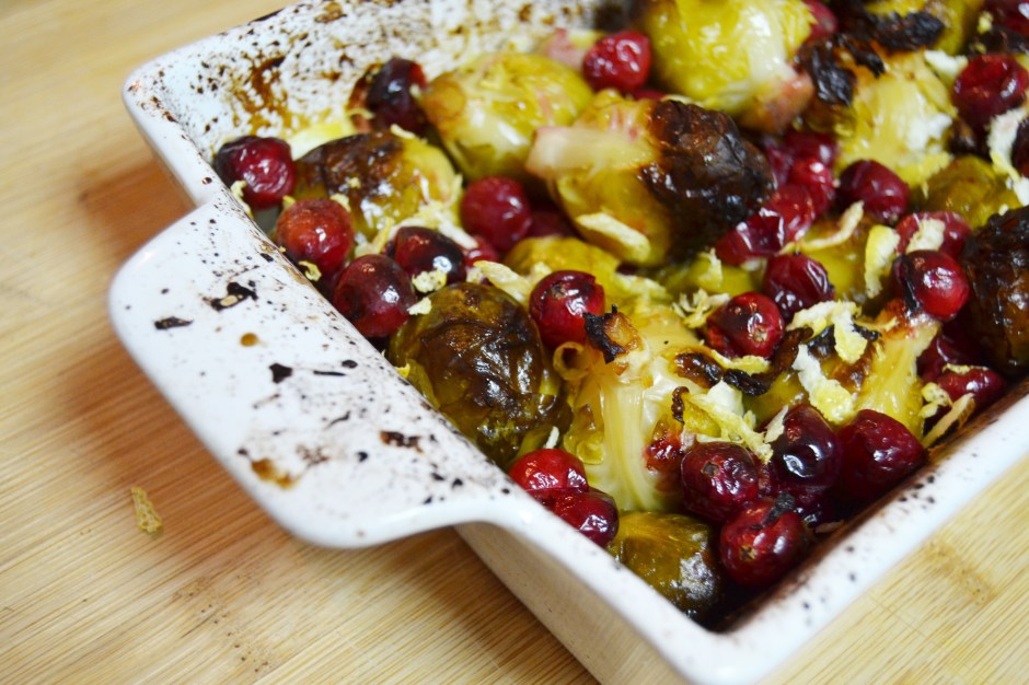 Cranberry & Lemon Brussel Sprouts Roasted In Agave Syrup (these sprouts taste nice I swear)