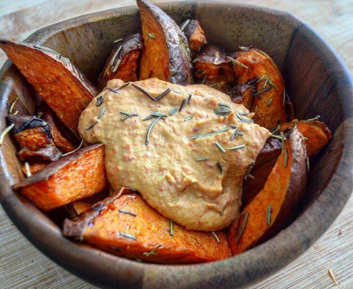 Sweet Sweet Potato Wedges (& rosemary)