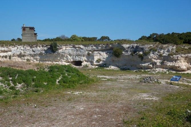 The lime quarry