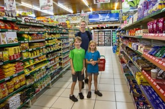 Shopping at Spar
