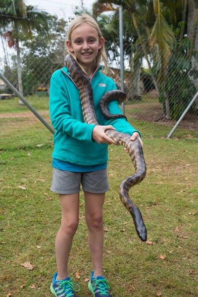 Kara Rivenbark and a Snake